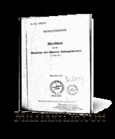 Памятка по боеприпасам для немецкого 388-мм реактивного миномета (H.Dv.481/66)