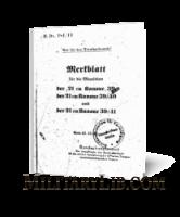 Памятка по боеприпасам для немецкого 210-мм орудия образца 39, 39/40 и 39/41 (H.Dv.481/44)