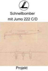 Schnellbomber bei Focke Wulf mit 2 x Jumo 222 C/D